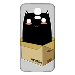 Black Cat In A Box Samsung Galaxy S5 Back Case (white) by Catifornia