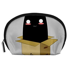Black Cat In A Box Accessory Pouches (large)  by Catifornia