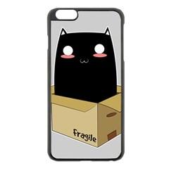 Black Cat In A Box Apple Iphone 6 Plus/6s Plus Black Enamel Case by Catifornia