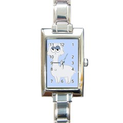 Grumpy Persian Cat Llama Rectangle Italian Charm Watch by Catifornia