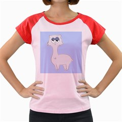Grumpy Persian Cat Llama Women s Cap Sleeve T Shirt by Catifornia
