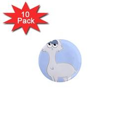 Grumpy Persian Cat Llama 1  Mini Magnet (10 Pack)  by Catifornia