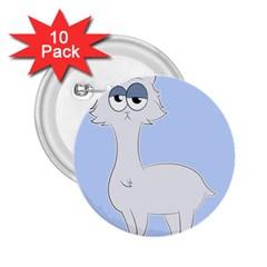 Grumpy Persian Cat Llama 2 25  Buttons (10 Pack)  by Catifornia