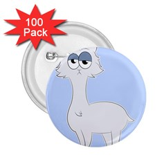 Grumpy Persian Cat Llama 2 25  Buttons (100 Pack)  by Catifornia