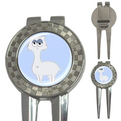 Grumpy Persian Cat Llama 3 In 1 Golf Divots by Catifornia