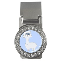 Grumpy Persian Cat Llama Money Clips (cz)  by Catifornia