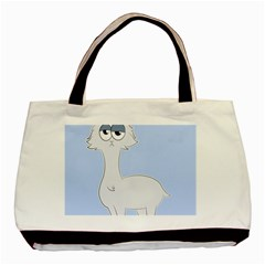 Grumpy Persian Cat Llama Basic Tote Bag by Catifornia