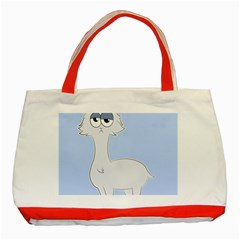 Grumpy Persian Cat Llama Classic Tote Bag (red) by Catifornia