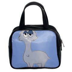 Grumpy Persian Cat Llama Classic Handbags (2 Sides) by Catifornia