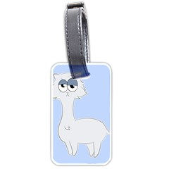 Grumpy Persian Cat Llama Luggage Tags (one Side)  by Catifornia