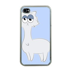 Grumpy Persian Cat Llama Apple Iphone 4 Case (clear) by Catifornia