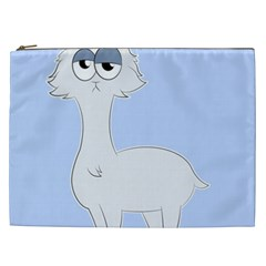 Grumpy Persian Cat Llama Cosmetic Bag (xxl)  by Catifornia