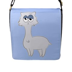 Grumpy Persian Cat Llama Flap Messenger Bag (l)  by Catifornia