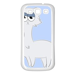 Grumpy Persian Cat Llama Samsung Galaxy S3 Back Case (white) by Catifornia