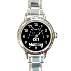 Love My Cat Mommy Round Italian Charm Watch by Catifornia
