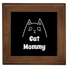 Love My Cat Mommy Framed Tiles by Catifornia