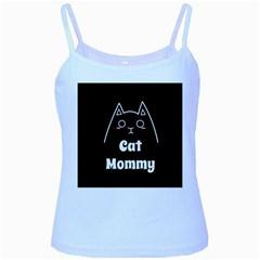 Love My Cat Mommy Baby Blue Spaghetti Tank by Catifornia