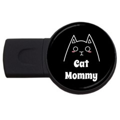 Love My Cat Mommy Usb Flash Drive Round (4 Gb) by Catifornia