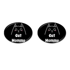 Love My Cat Mommy Cufflinks (oval) by Catifornia
