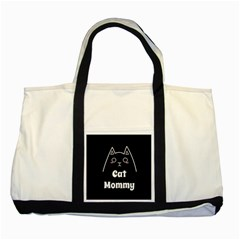 Love My Cat Mommy Two Tone Tote Bag by Catifornia