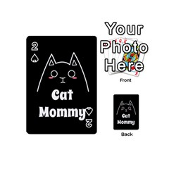 Love My Cat Mommy Playing Cards 54 (mini)  by Catifornia
