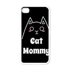 Love My Cat Mommy Apple Iphone 4 Case (white) by Catifornia