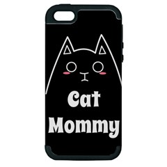 Love My Cat Mommy Apple Iphone 5 Hardshell Case (pc+silicone) by Catifornia