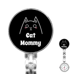 Love My Cat Mommy Stainless Steel Nurses Watch by Catifornia