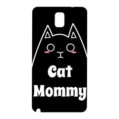 Love My Cat Mommy Samsung Galaxy Note 3 N9005 Hardshell Back Case by Catifornia