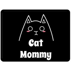 Love My Cat Mommy Double Sided Fleece Blanket (large)  by Catifornia