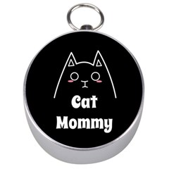 Love My Cat Mommy Silver Compasses