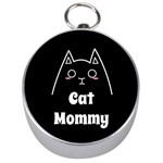 Love My Cat Mommy Silver Compasses Front