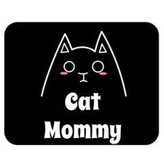 Love My Cat Mommy Double Sided Flano Blanket (medium)  by Catifornia