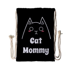 Love My Cat Mommy Drawstring Bag (small) by Catifornia