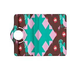 Animals Rooster Hens Chicks Chickens Plaid Star Flower Floral Sunflower Kindle Fire Hd (2013) Flip 360 Case by Mariart