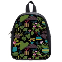 Wreaths Flower Floral Leaf Rose Sunflower Green Yellow Black School Bags (small)  by Mariart