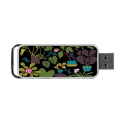 Wreaths Flower Floral Leaf Rose Sunflower Green Yellow Black Portable Usb Flash (one Side) by Mariart