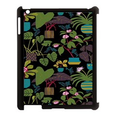 Wreaths Flower Floral Leaf Rose Sunflower Green Yellow Black Apple Ipad 3/4 Case (black) by Mariart