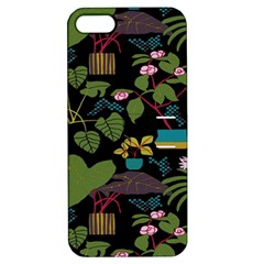 Wreaths Flower Floral Leaf Rose Sunflower Green Yellow Black Apple Iphone 5 Hardshell Case With Stand by Mariart