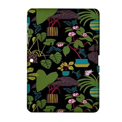 Wreaths Flower Floral Leaf Rose Sunflower Green Yellow Black Samsung Galaxy Tab 2 (10 1 ) P5100 Hardshell Case  by Mariart