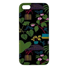 Wreaths Flower Floral Leaf Rose Sunflower Green Yellow Black Iphone 5s/ Se Premium Hardshell Case by Mariart
