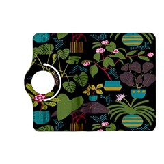 Wreaths Flower Floral Leaf Rose Sunflower Green Yellow Black Kindle Fire Hd (2013) Flip 360 Case by Mariart