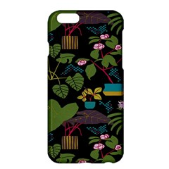 Wreaths Flower Floral Leaf Rose Sunflower Green Yellow Black Apple Iphone 6 Plus/6s Plus Hardshell Case by Mariart