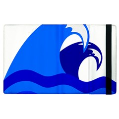 Blue Beach Sea Wave Waves Chevron Water Apple Ipad 2 Flip Case by Mariart