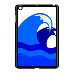 Blue Beach Sea Wave Waves Chevron Water Apple Ipad Mini Case (black) by Mariart