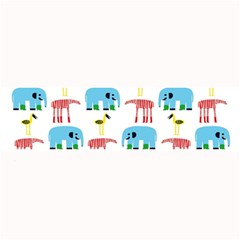 Animals Elephants Giraffes Bird Cranes Swan Large Bar Mats by Mariart