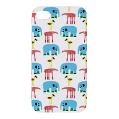 Animals Elephants Giraffes Bird Cranes Swan Apple Iphone 4/4s Hardshell Case by Mariart