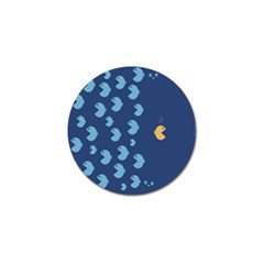Blue Fish Sea Beach Swim Yellow Predator Water Golf Ball Marker (4 Pack) by Mariart