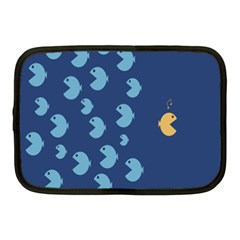 Blue Fish Sea Beach Swim Yellow Predator Water Netbook Case (medium)  by Mariart