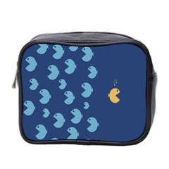 Blue Fish Sea Beach Swim Yellow Predator Water Mini Toiletries Bag 2 Side by Mariart